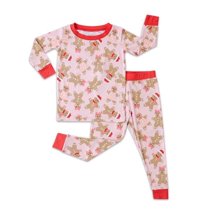 Pink Gingerbread Two-Piece Bamboo Viscose Pajama Set