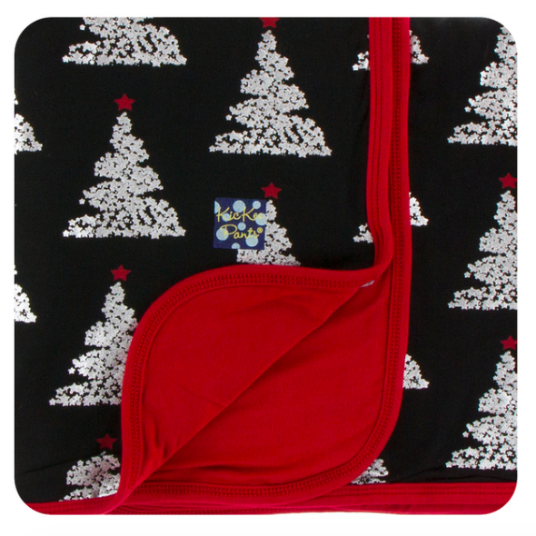 Print Swaddle Blanket - Midnight Foil Tree