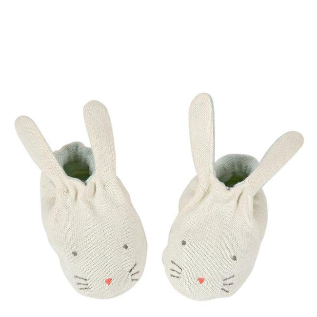 Bunny Baby Booties - Mint