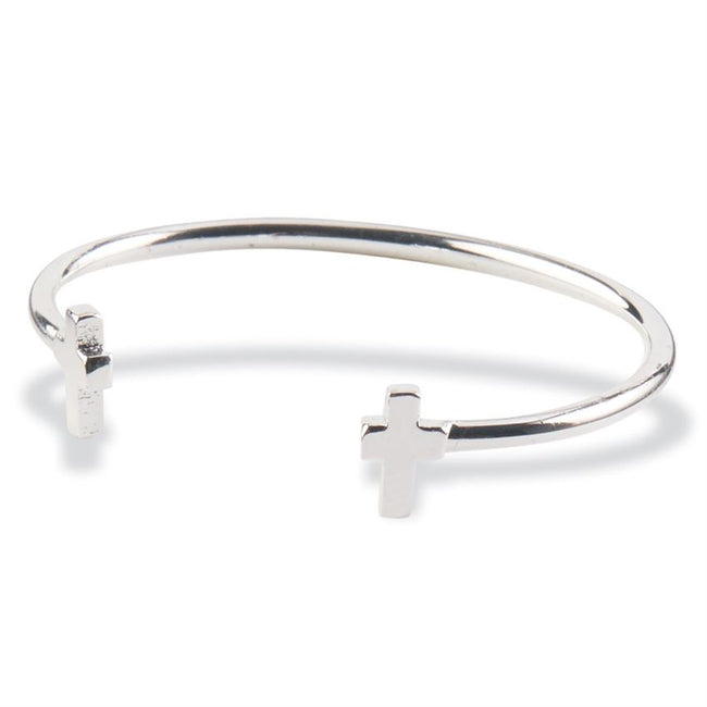 Infant Sterling Silver Cross Cuff Bracelet