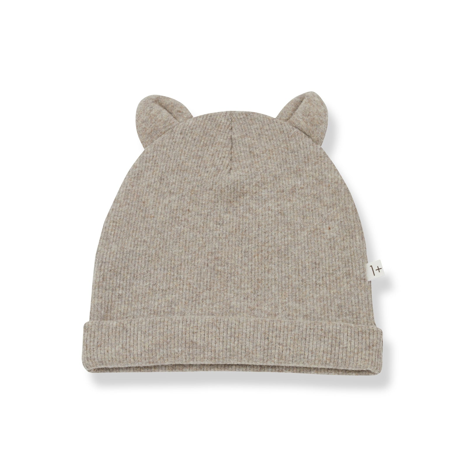Mull Beanie with Ears - Beige