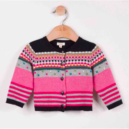Multicolor Embroidered Cardigan