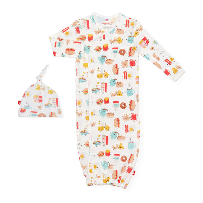 Better Together Organic Cotton Magnetic Gown Set
