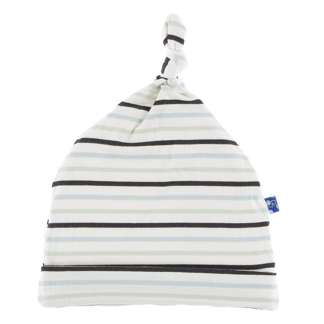 Print Knot Hat - Tuscan Afternoon Stripe