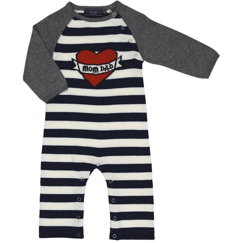 Succulent Kenya Stripe Footie with Zipper