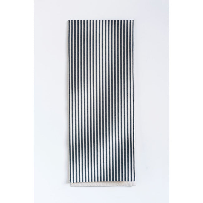 "72"" L x 14"" W Cotton Stripe Table Runner - Black & White"