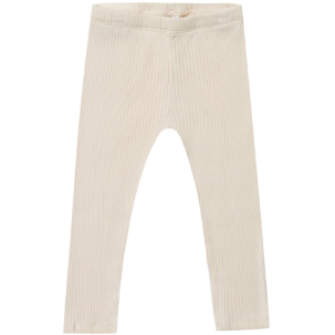 Ribbed Knit Leggings - Ivory