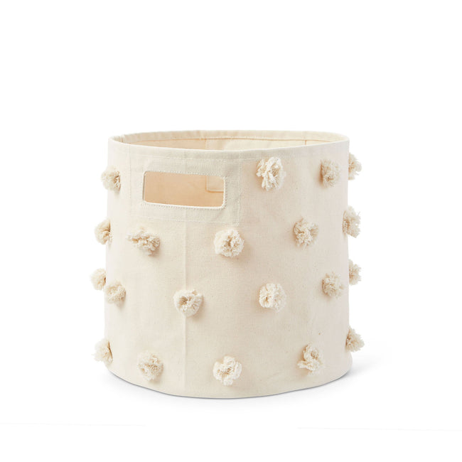 Natural Pom Pom Storage Bin