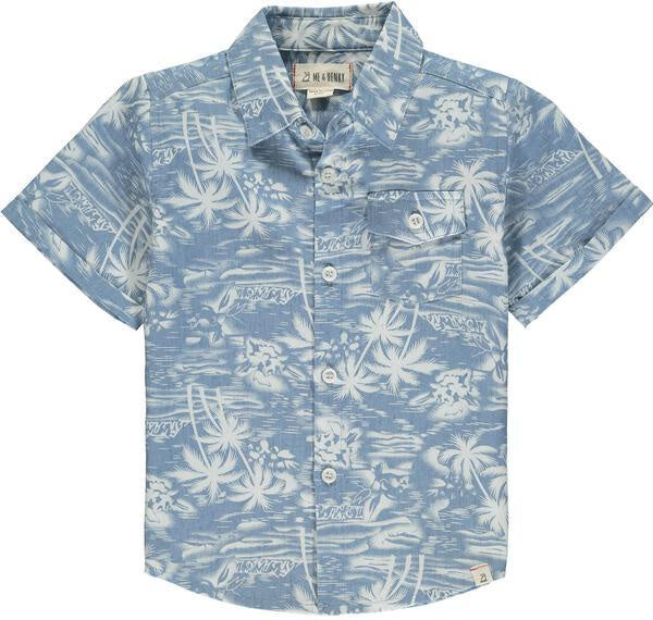 Surfer Short Sleeve Shirt - Chambray