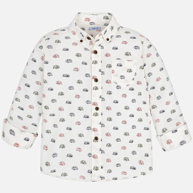 Campers Long Sleeve Collared Shirt