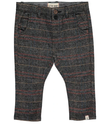 Check Woven Pants - Grey