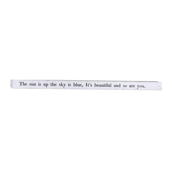 "Poetry Stick - 36"" x 2"" - The Sun Is Up"
