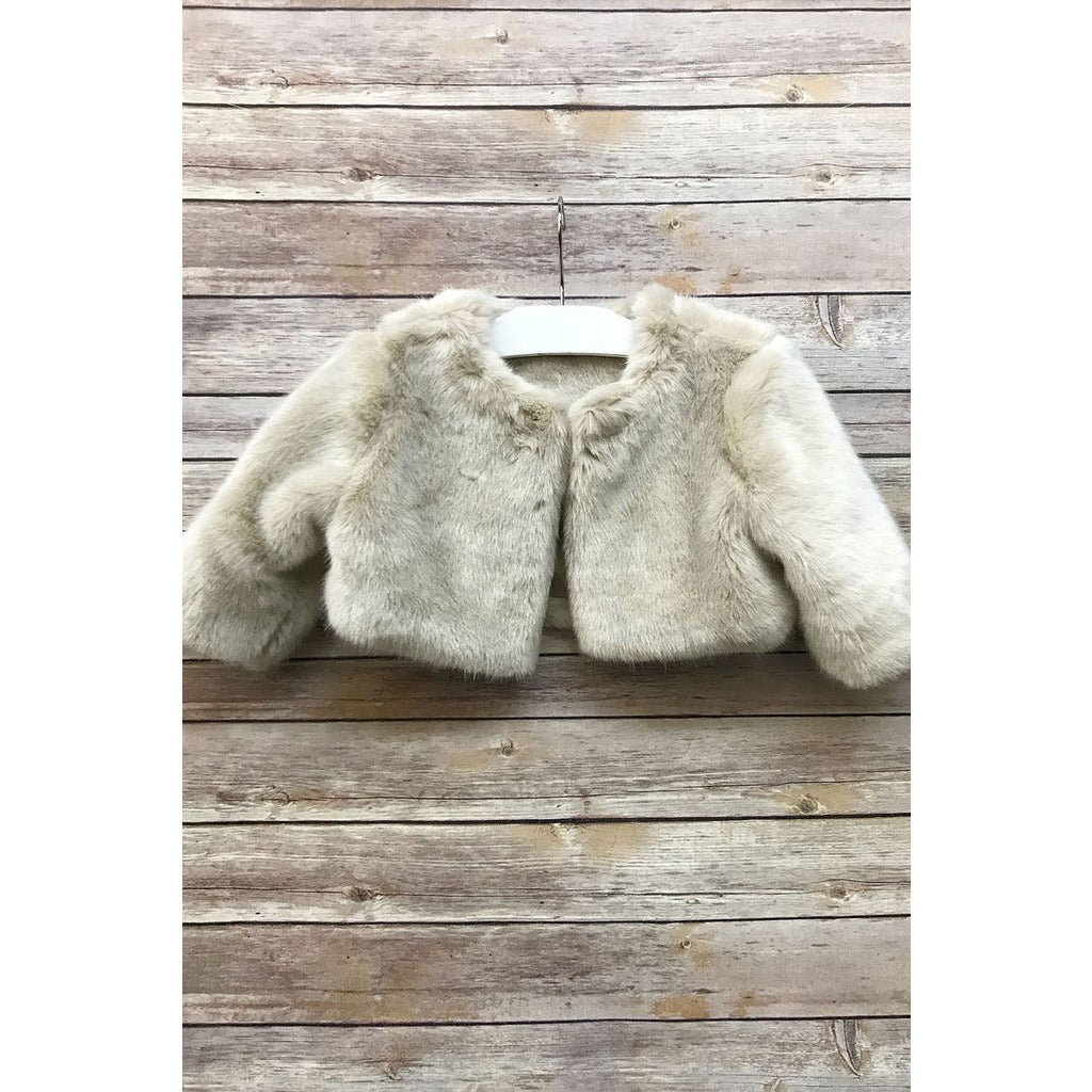 Adele Faux Fur Jacket - Taupe
