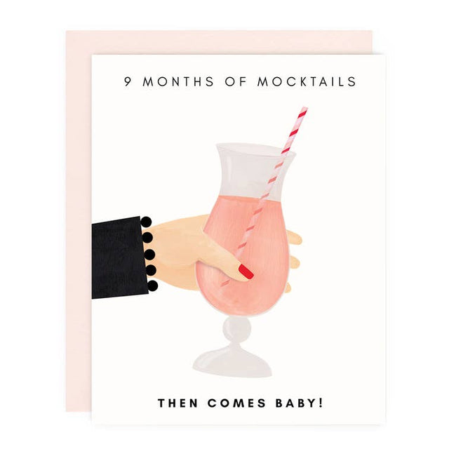 Mocktails Then Baby Greeting Card