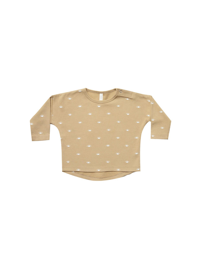 Organic Brushed Jersey Longsleeve Baby Tee - Honey