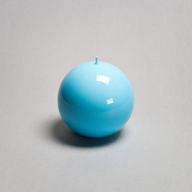 Ball Candle - Light Blue - 4.75""