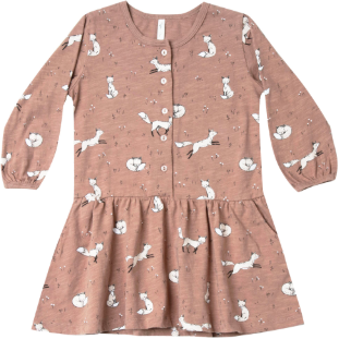 Jersey Button Up Dress - Winter Fox