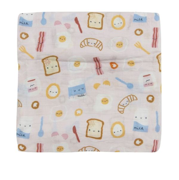 Luxe Muslin Swaddle - Breakfast Pink