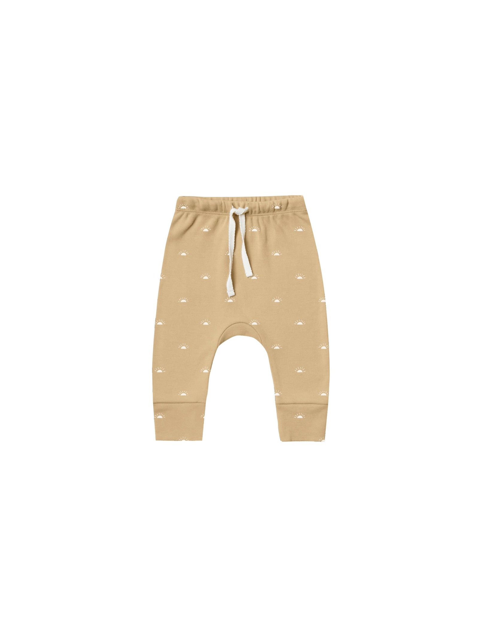 Organic Brushed Jersey Drawstring Pant - Honey