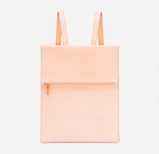Rectangular Backpack in Natural Vachetta
