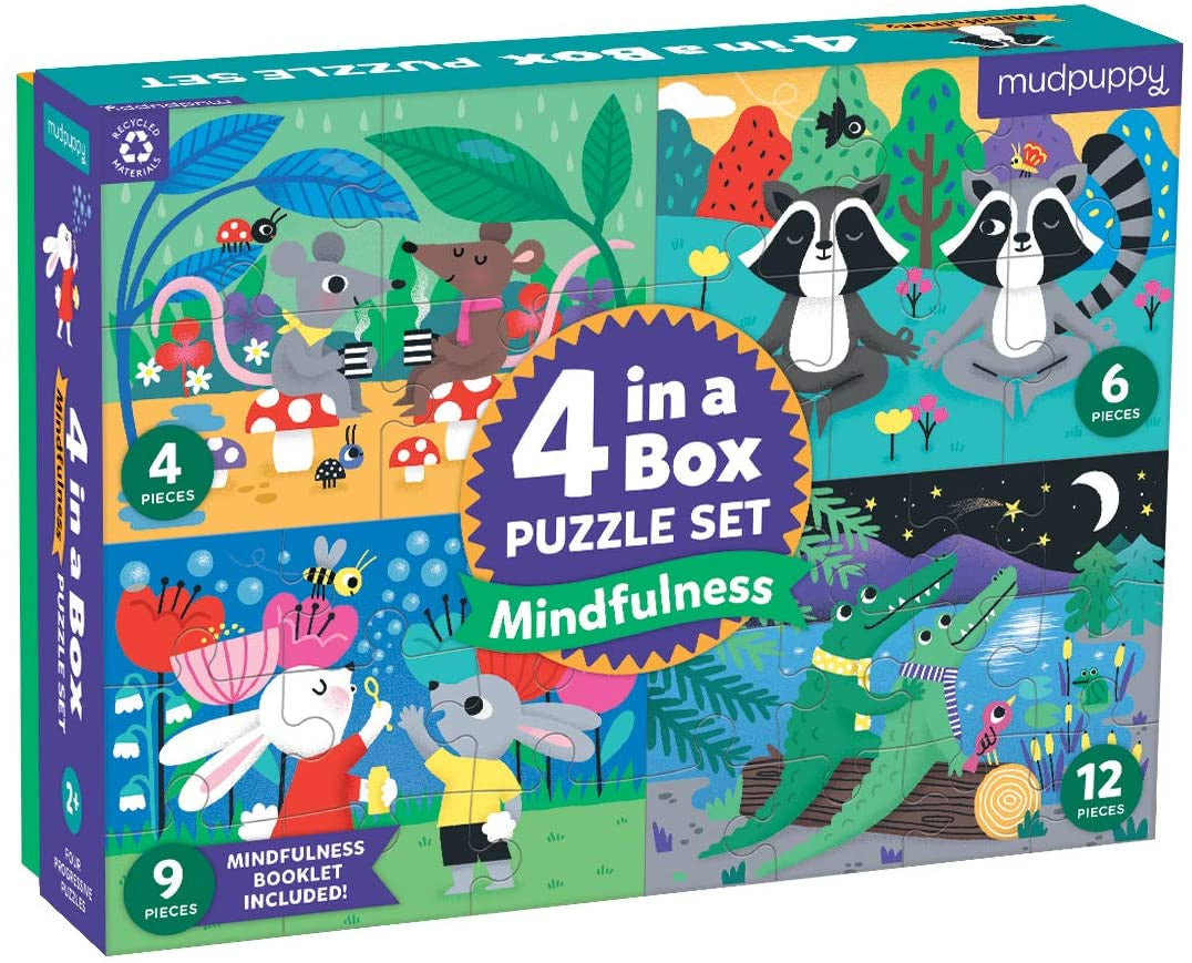 Mindfulness 4-in-a-Box Puzzle Set