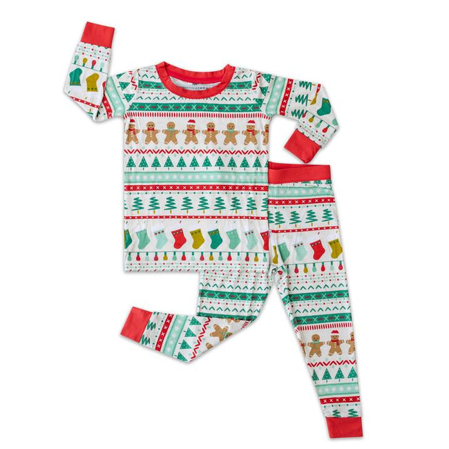 Fair Isle Two-Piece Bamboo Viscose Pajama Set