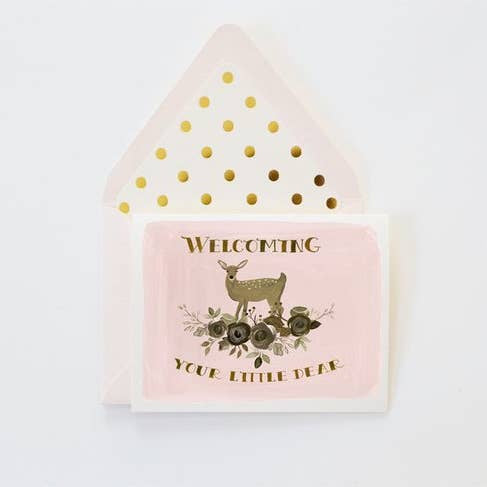 Welcome Little Dear Greeting Card
