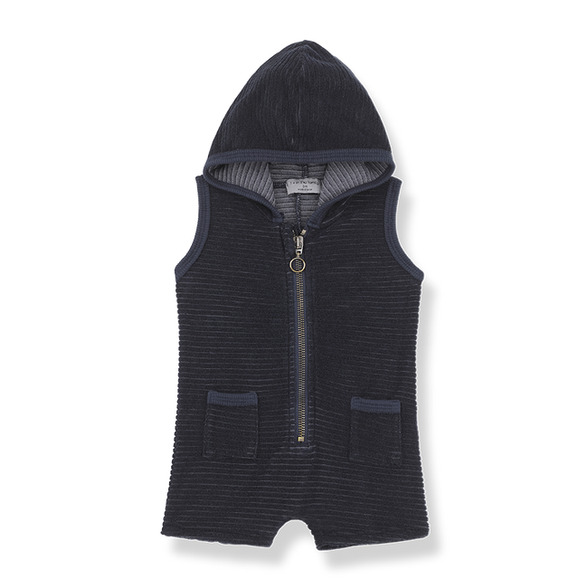 Nuoro Hooded Overall - Blue Notte