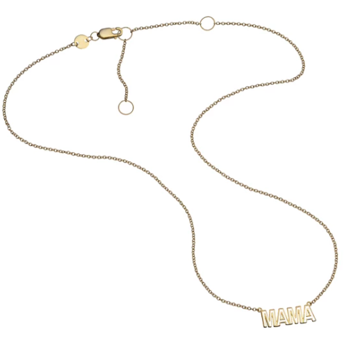 Mercer Enamel Mama Necklace - Gold Vermeil