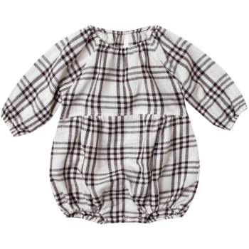Bubble Romper - Ivory & Black Check