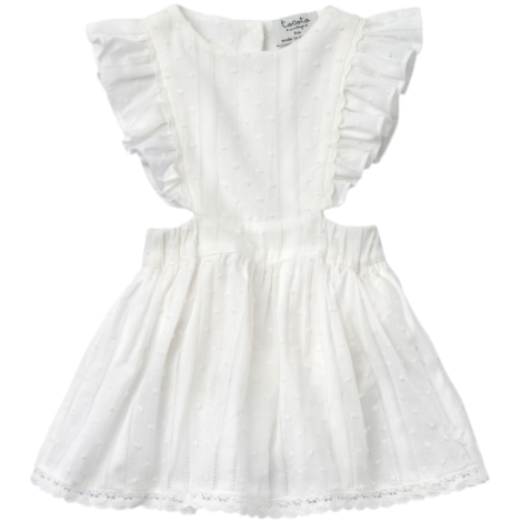 Plumeti Lace Baby Dress - Off-White