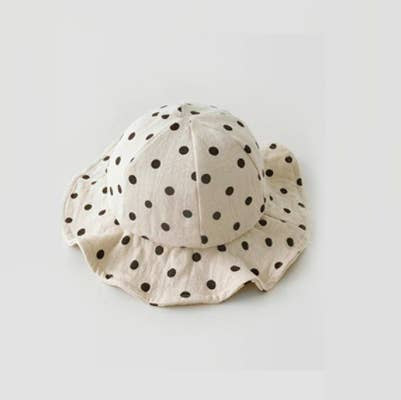 Edvina Bucket Hat - Dot Cream