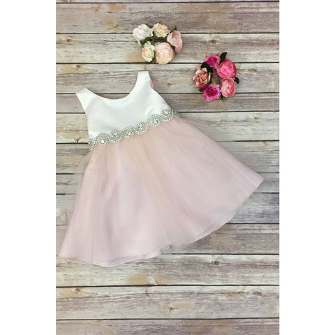 Pink Mesh Ruffle Tulle Dress