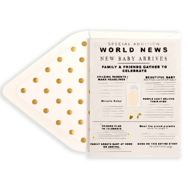 World News Baby Greeting Card