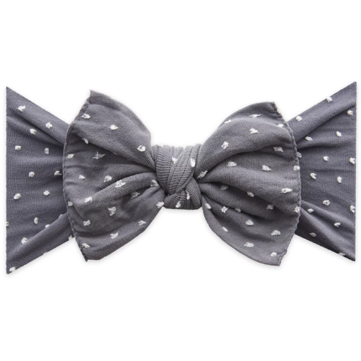 Patterned Knot Headband - Shabby Storm Dot