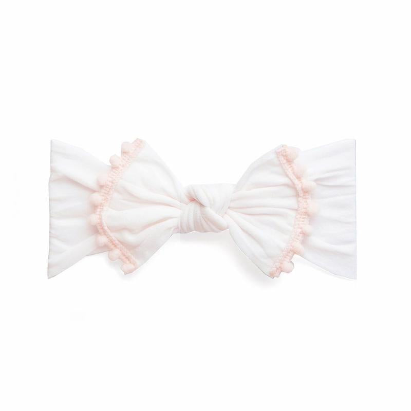 Trimmed Classic Knot Headband - Ballet Pink