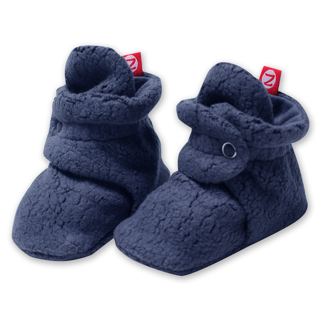 Cozie Fleece Stay-On Booties - Denim Navy