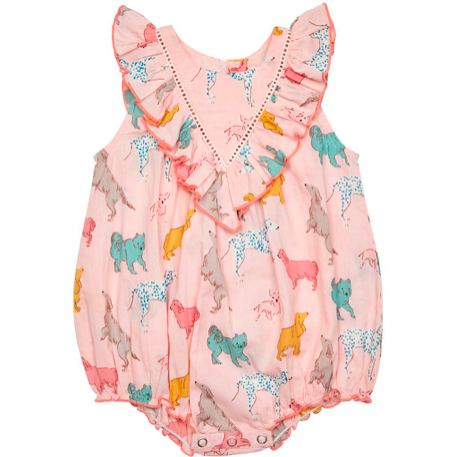 Marley Bubble Romper - Crystal Rose Dog