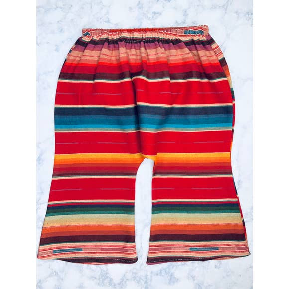 Serape Bell Bottoms - Red Flannel