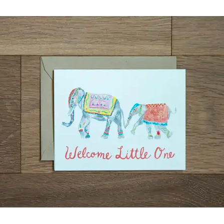 Baby Card - Elephant Welcome