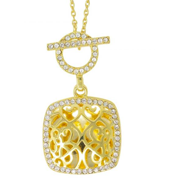 Amelia Locket Necklace - Yellow Gold