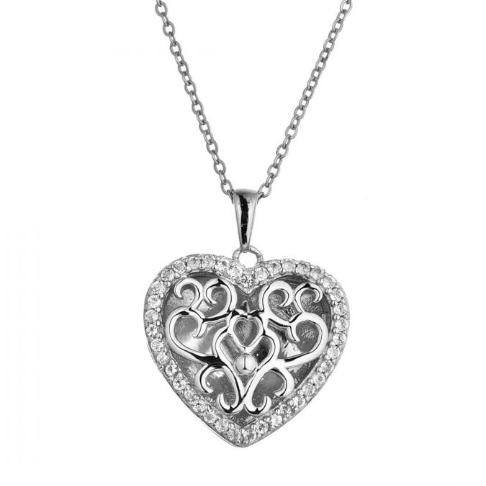 Mary Locket Necklace - Sterling Silver