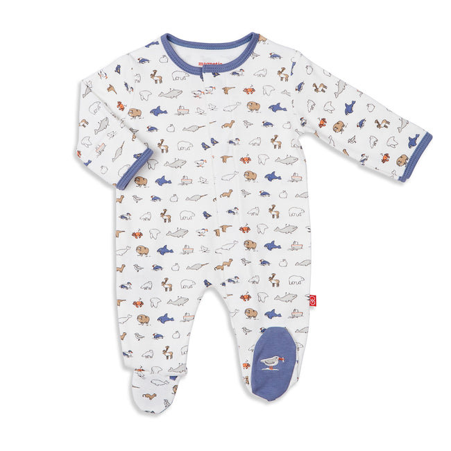 Glacier Bay Organic Cotton Magnetic Footie