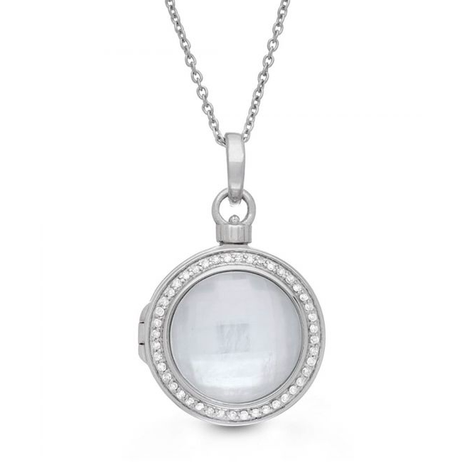 Michael Locket Necklace - Sterling Silver