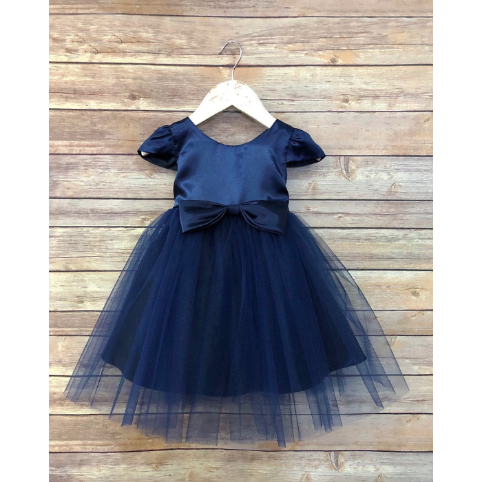 Regina Tulle Party Dress - Navy