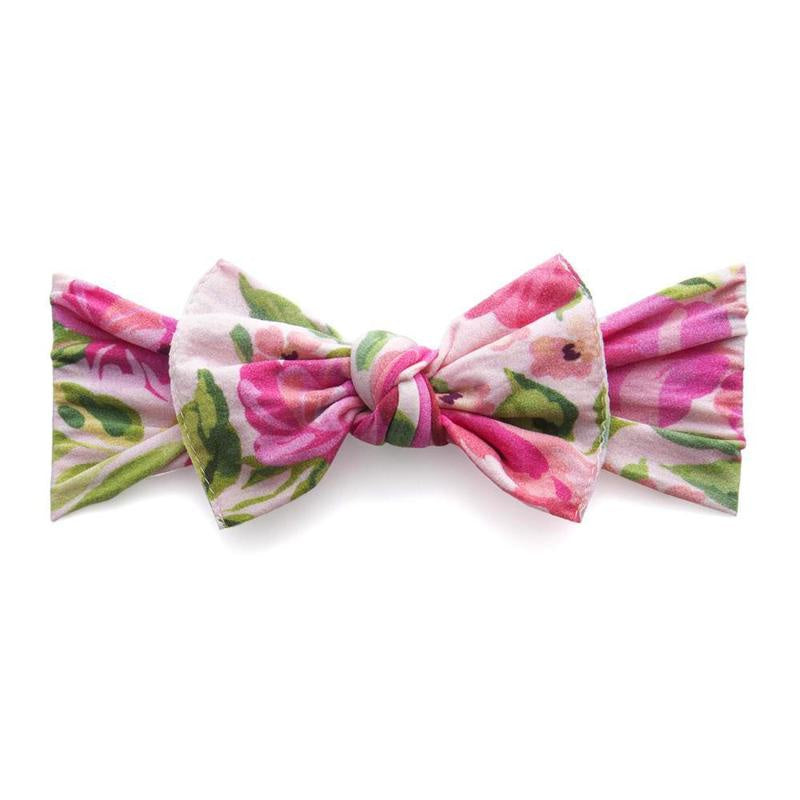 Printed Knot Headband - Pink Rose