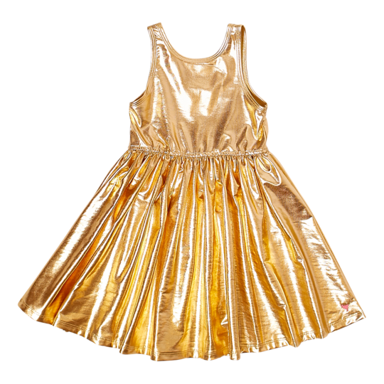 Liza Lame Dress - Gold
