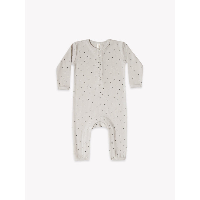 Organic Ribbed Jumpsuit - Dove