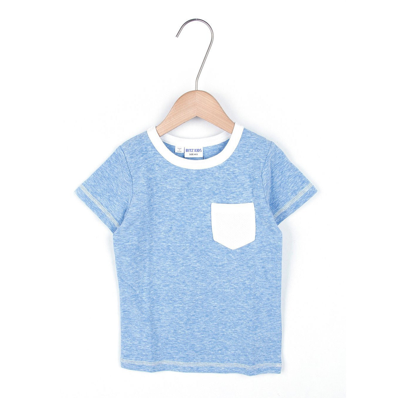 Jersey Pocket Tee - Blue