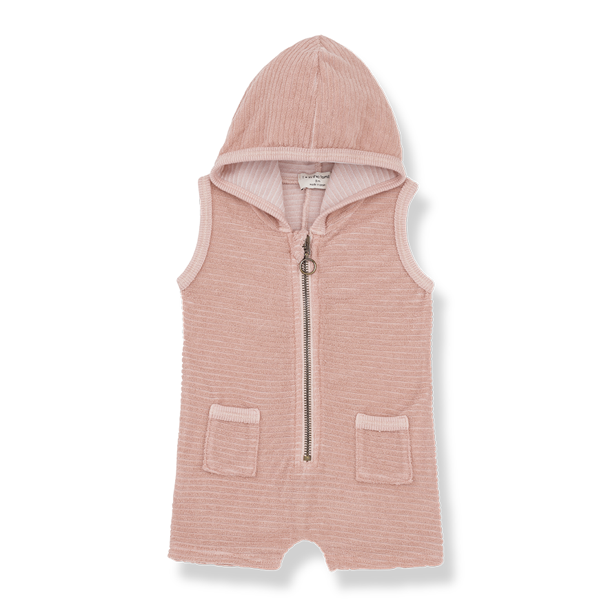 Nuoro Hooded Overall - Rose